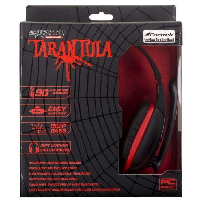 Fone de Ouvido Headset Gamer Fortrek Spider Tarantula SHS702 Preto/Vermelho - 54221