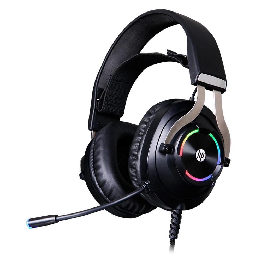 Fone de Ouvido Headset Gamer HP RGB, Drivers 50mm, P2/USB, Preto - 9AJ68AA