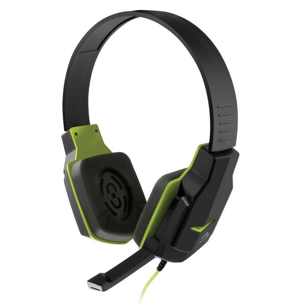 Fone de Ouvido Headset Gamer Multilaser Earpad de Silicone P2 Preto e Verde - PH146