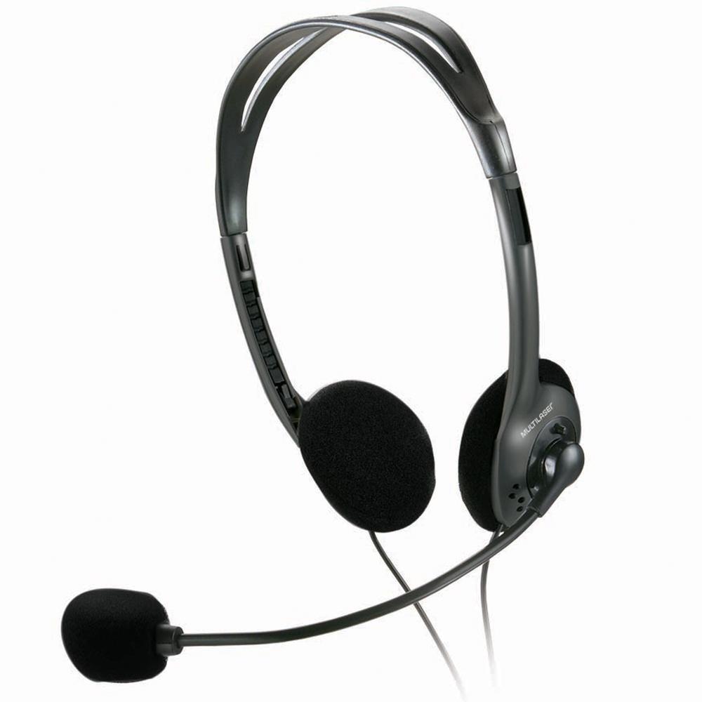 Fone de Ouvido Headset Multilaser P2 Preto - PH002