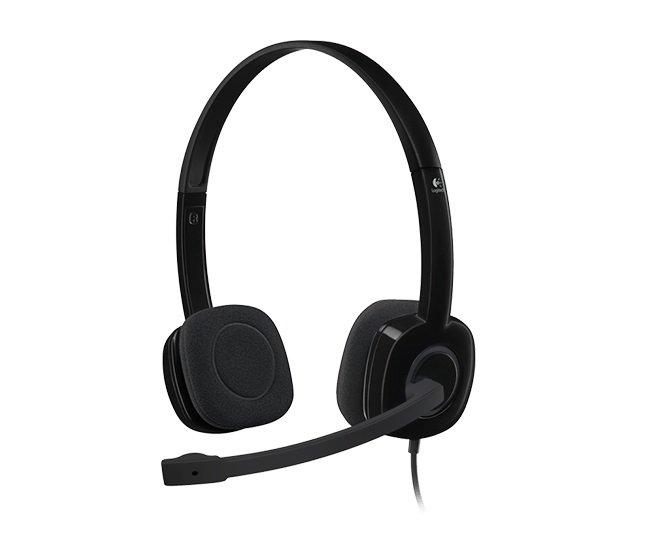 Fone de Ouvido Headset P2 H151 Logitech, Preto - 981-000587