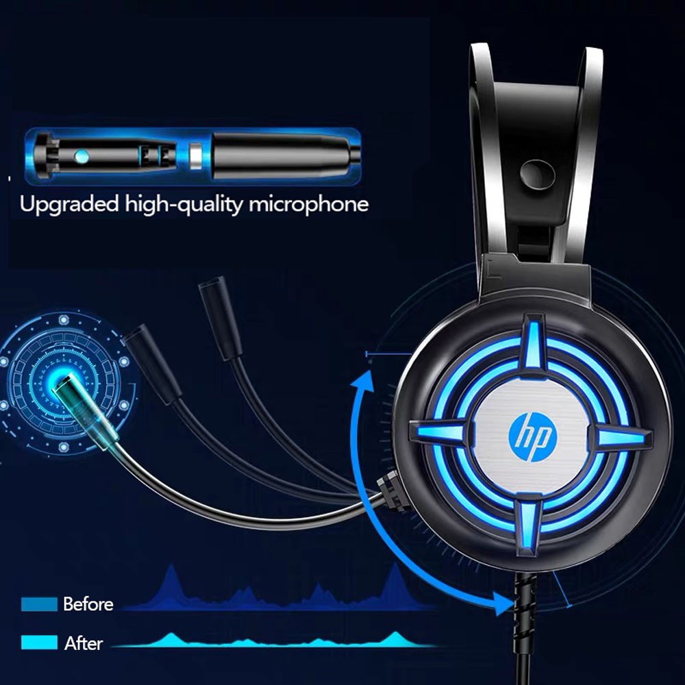 Fone De ouvido HP Gamer Headset H120 - Preto RGB