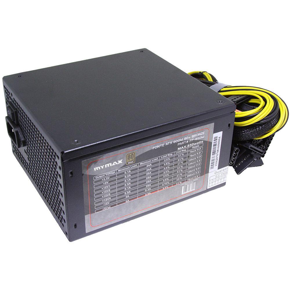 FONTE ATX 800WTS REAIS MYMAX 80 PLUS BRONZE