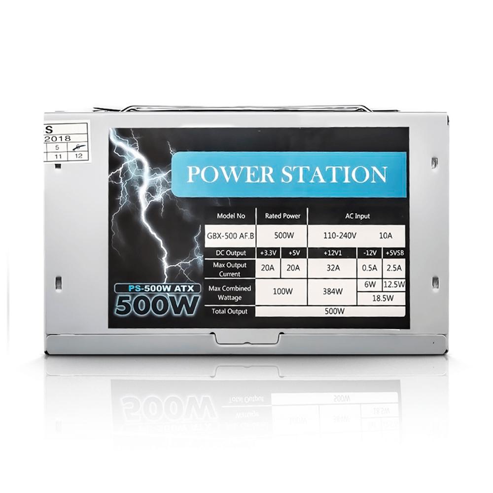 Fonte Power Station ATX PS-500W Bivolt com Cabo
