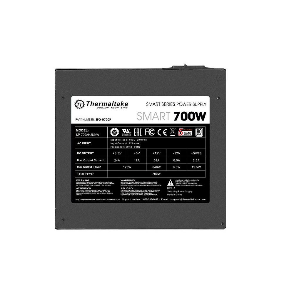 Fonte Thermaltake 700W 80 Plus White Smart Series - PS-SPD-0700NPCWBZ-W