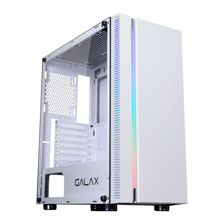 Gabinete Galax Quasar Branco Vidro Temp. S/ Fan - Gx600-wh