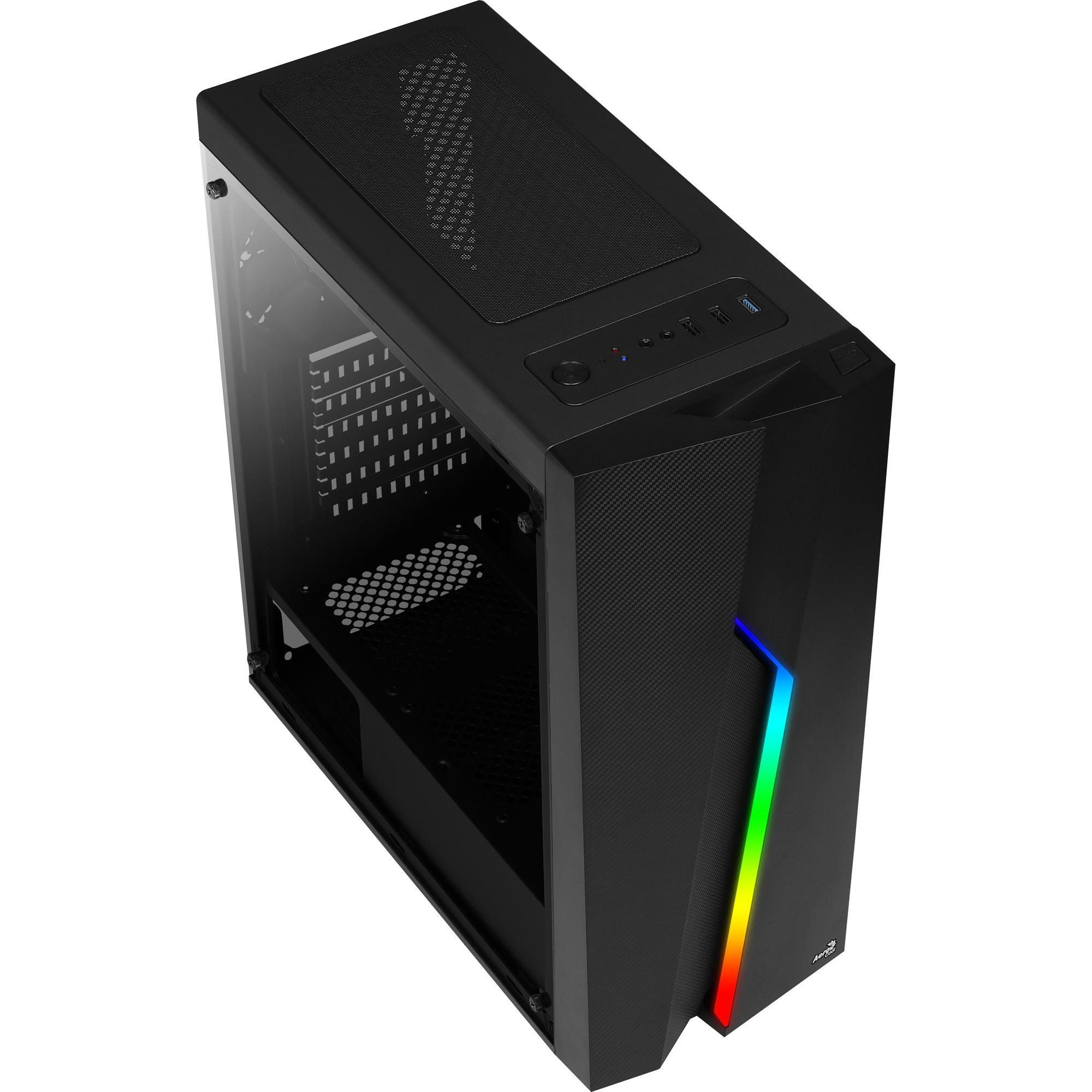 Gabinete Gamer Aerocool Mid Tower RGB Bolt - Preto