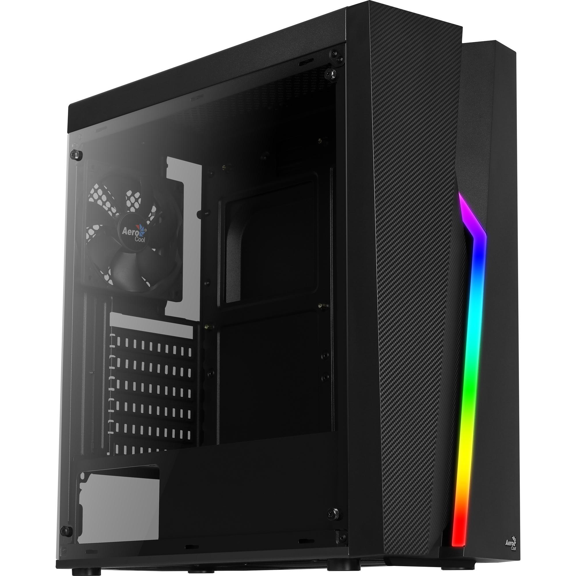 Gabinete Gamer Aerocool Mid Tower RGB Bolt - Preto