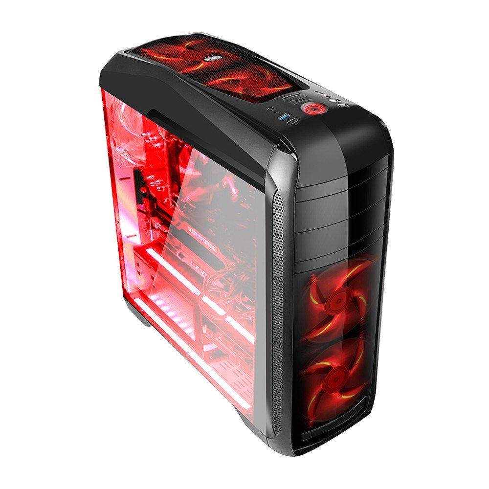 Gabinete Gamer Bluecase 2 Baias S/ Fonte - BG-024
