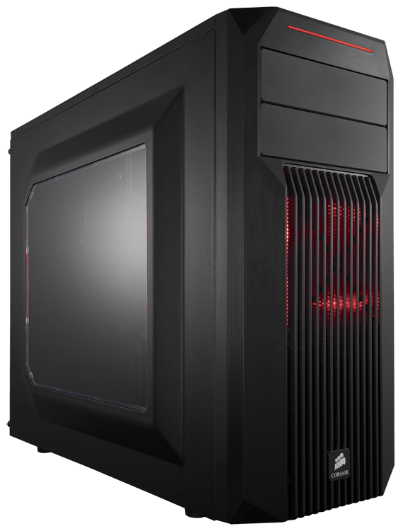 Gabinete Gamer Corsair Carbide Spec-02 Red - CC-9011051-WW