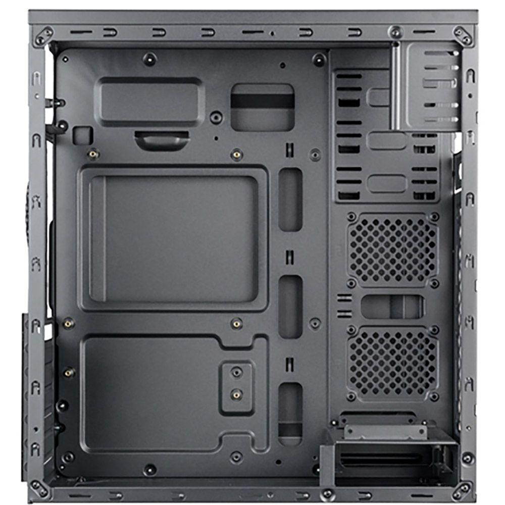 Gabinete Gamer Mymax Dragon, Preto/Prata - MCA-FC-F75/SL