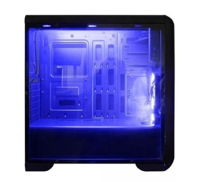 Gabinete Gamer Mymax Tornado, C/ LED Azul, Preto, S/ Fonte - MCA-FC-T07A/BK