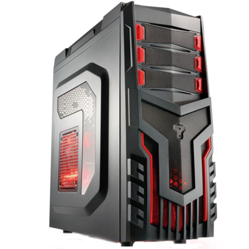 Gabinete Multilaser Gamer s/ Fonte, Cooler com LED, Preto - GA124