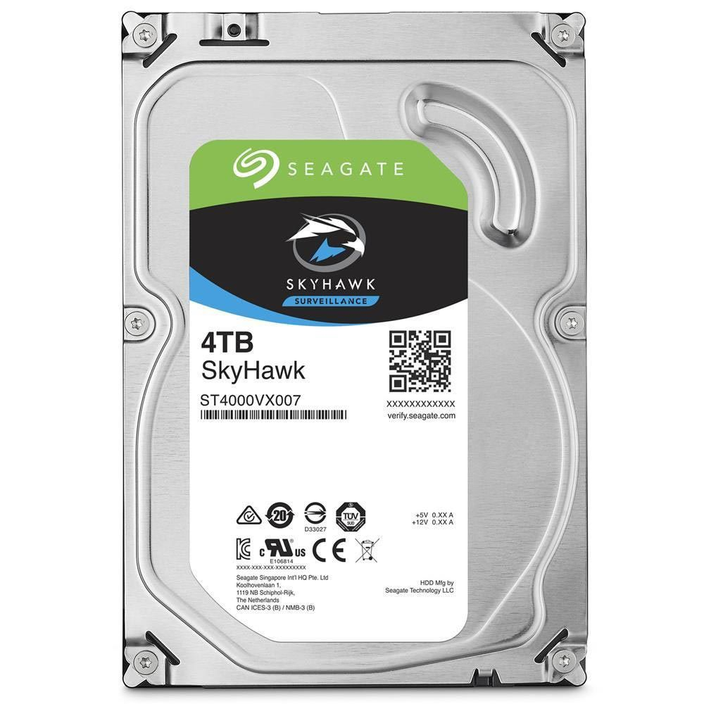 HD Seagate SATA 3,5´ Surveillance SkyHawk 4TB 5900RPM 64MB Cache SATA 6.0Gb/s - ST4000VX007