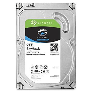 """HD Seagate SATA 3.5"""" Surveillance SkyHawk P/ DVR 2TB 5400RPM 64MB Cache SATA 6.0Gb/s - ST2000VX008"""