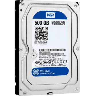 HD WD SATA 3,5´ Blue 500GB 7200RPM 16MB Cache SATA 6.0Gb/s - WD5000AAKX