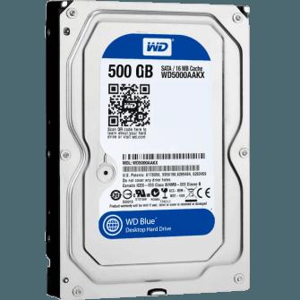 HD WD SATA 3,5´ Blue 500GB 7200RPM 16MB Cache SATA 6.0Gb/s - WD5000AAKX