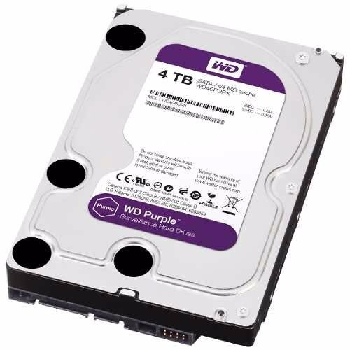 HD 4TB Wester Digital Purple - P/ DVR, SATA 3 - WD40PURX