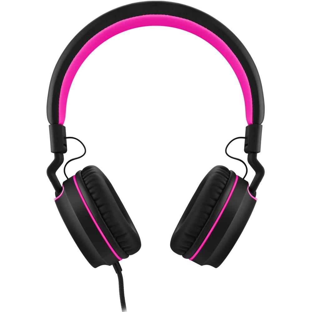 Fone de Ouvido C/ Microfone Headphone Pulse On Ear Stereo Preto/Rosa - PH160