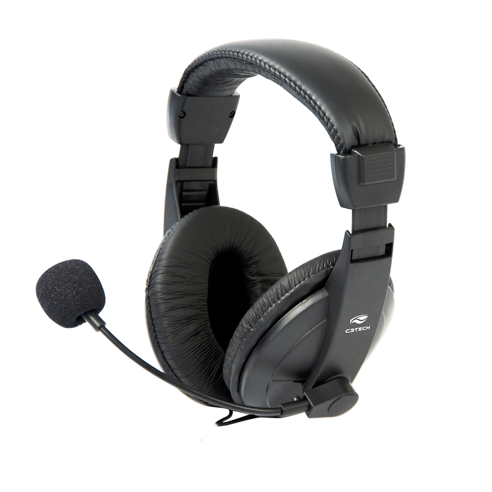 Headset Com Microfone Voicer Comfort Ph-60bk - Preto