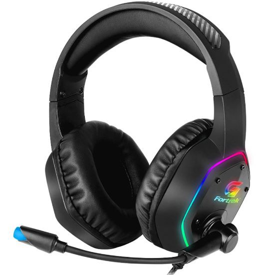 Headset Fortrek Gamer RGB Blackfire Preto - 70554