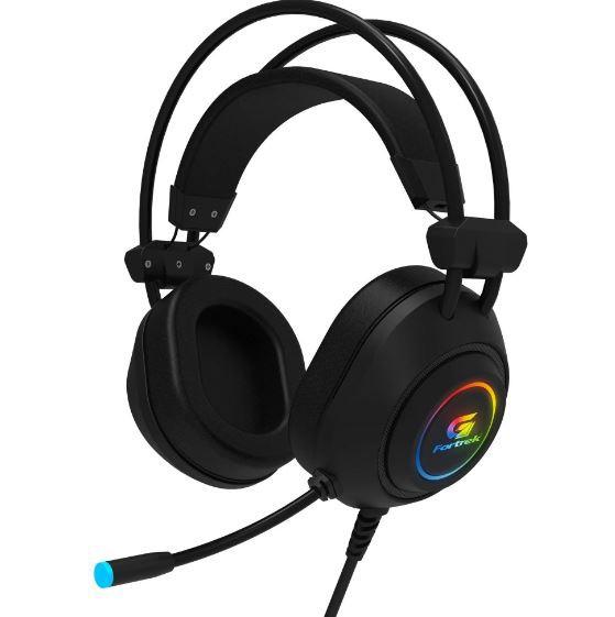 Headset Fortrek Gamer RGB Crusader Preto - 70555