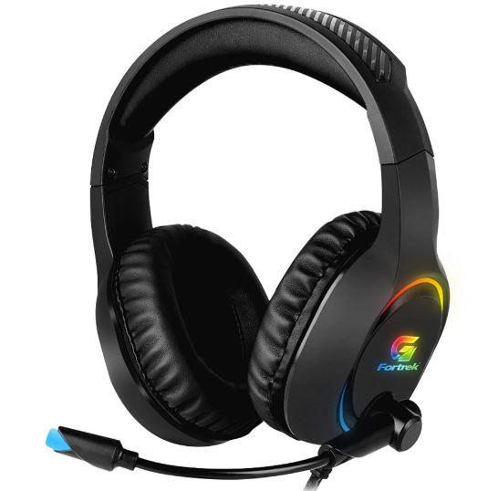 Headset Fortrek Gamer RGB Holt Preto - 70552