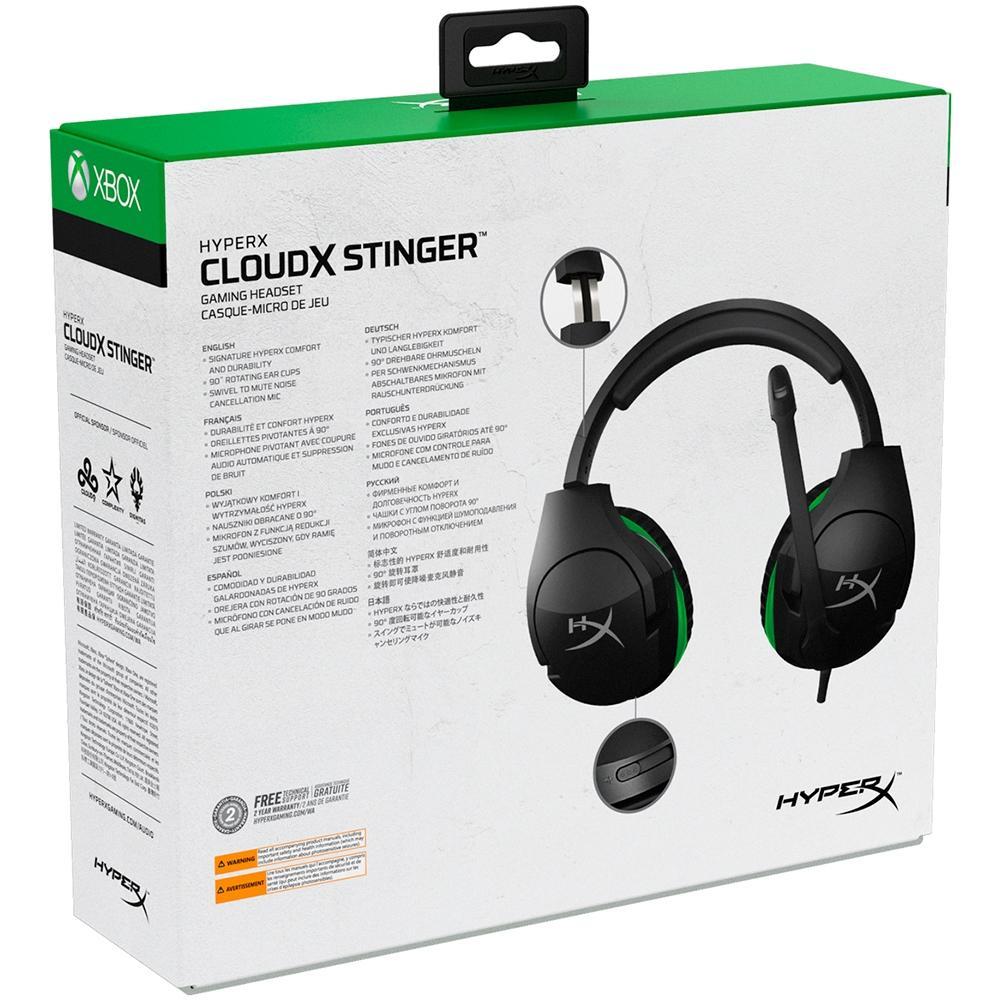 Headset Gamer HyperX CloudX Stinger Xbox, Preto - HX-HSCSX-BK/WW