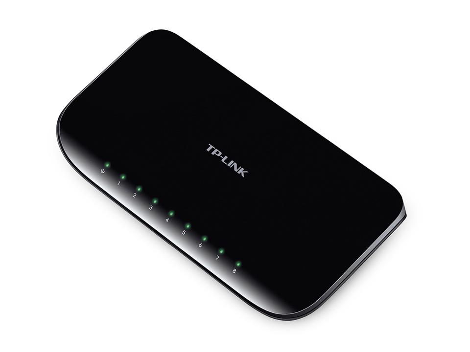 Hub / Switch Gigabit TP-Link de Mesa de 8 portas - TL-SG1008D