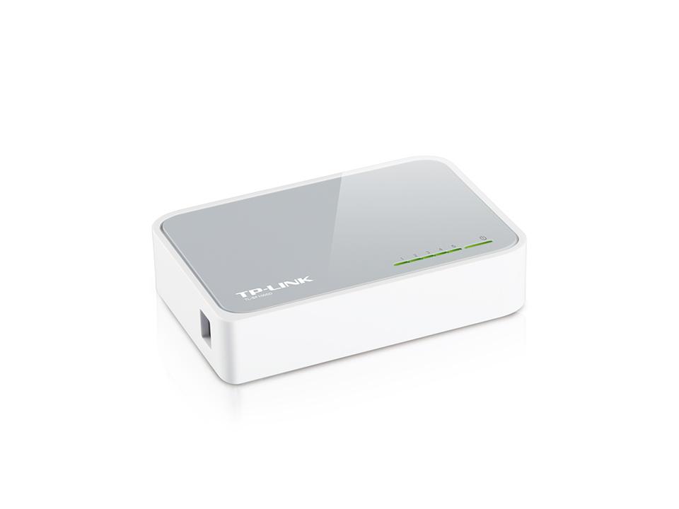 Hub / Switch TP-Link de Mesa de 5 Portas 10/100Mbps - TL-SF1005D