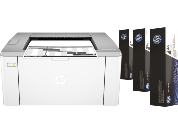 Impressora HP LaserJet M106W Mono Ultra + 3 Toners - G3Q39A#696