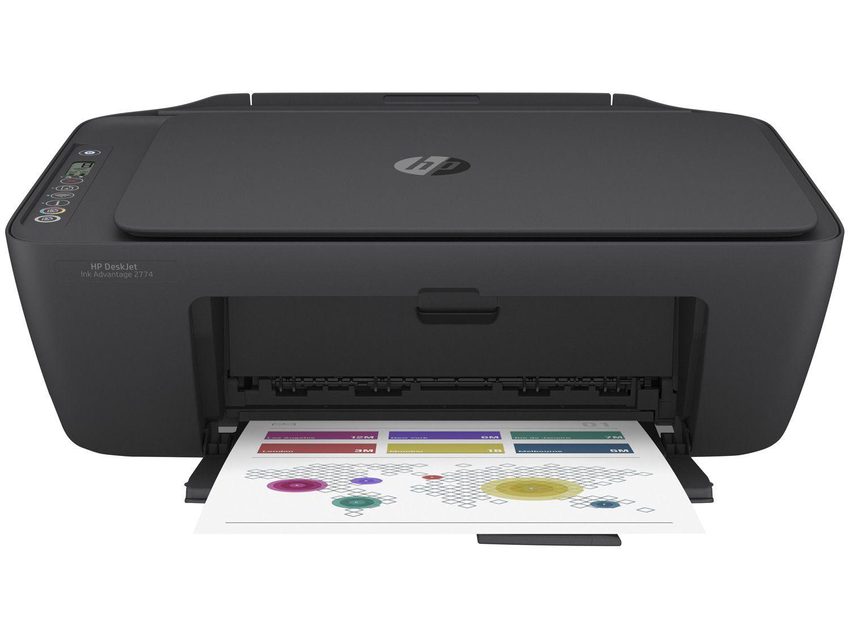 Impressora Multifuncional HP Deskjet Ink Advantage - 2774 Jato de Tinta Colorida Wi-Fi USB