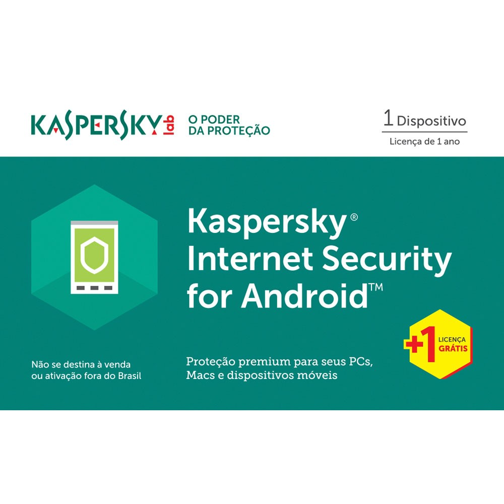 Kaspersky Internet Security 2017 para Android 1 Dispositivo + 1 Grátis - Licença 1 Ano - Digital para Download