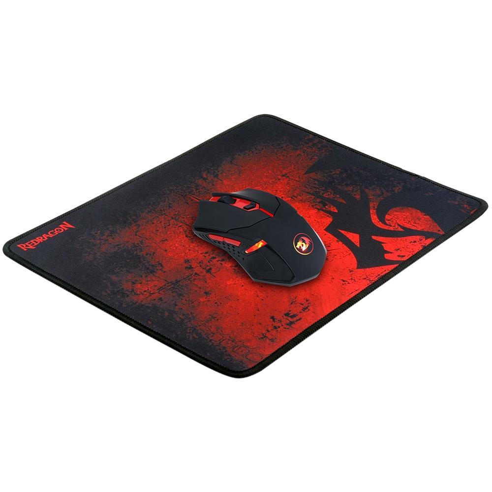 Kit Gamer Redragon - Mouse Centrophorus, LED Vermelho + Mousepad, Control, Médio - M601 BA