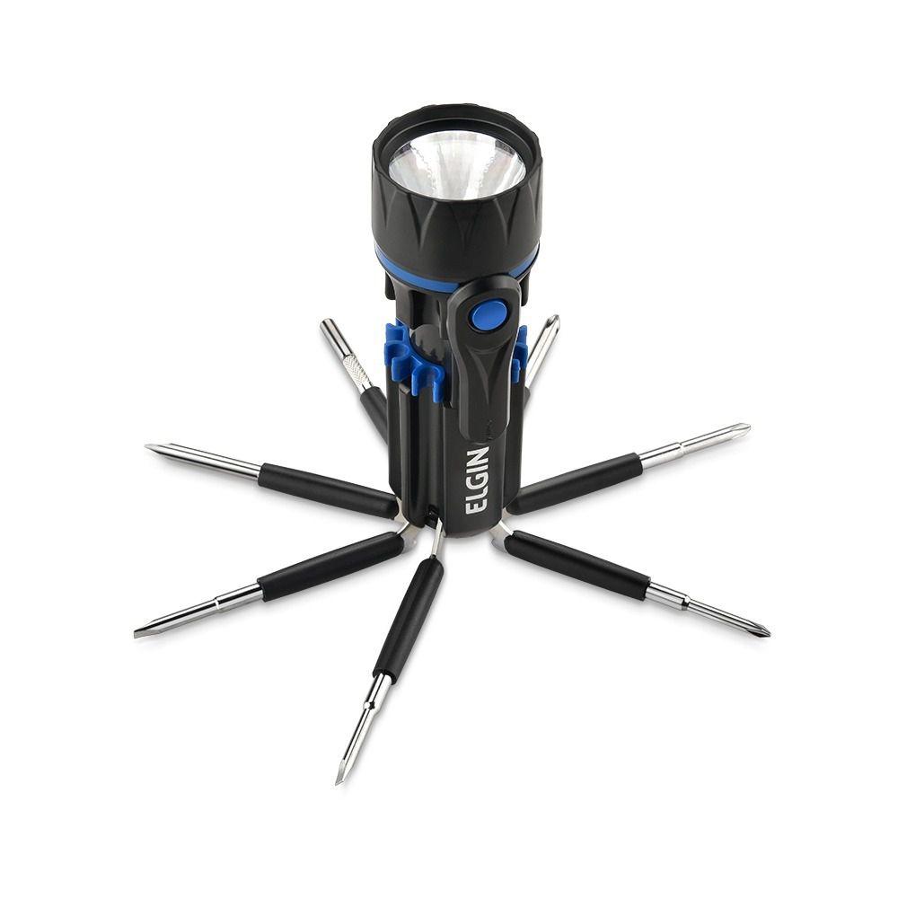 Lanterna Led Versátil Elgin 8 Em 1 Com Chaves Fenda e Philips