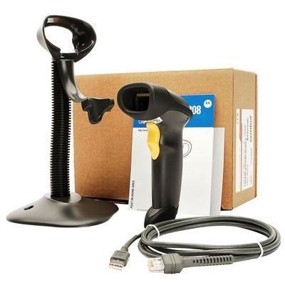 Leitor de Código de Barras Symbol Laser LS2208 Symbol, USB, C/ Cabo e Suporte - LS2208-SR20007BR-U