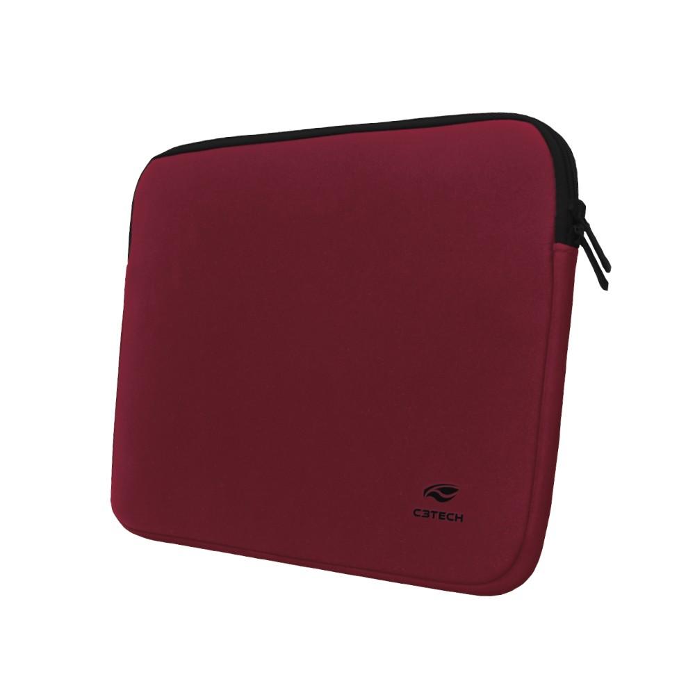 "Maleta Case Sleeve para Notebook Seattle SL-14 14.1"" Vermelha C3Tech"