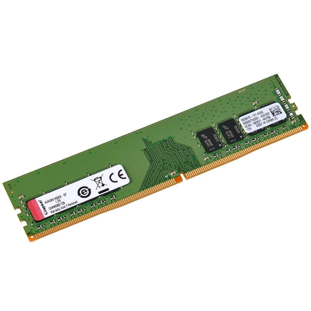 Memória Kingston 8GB, 2666MHz, DDR4, CL19 - KVR26N19S8/8