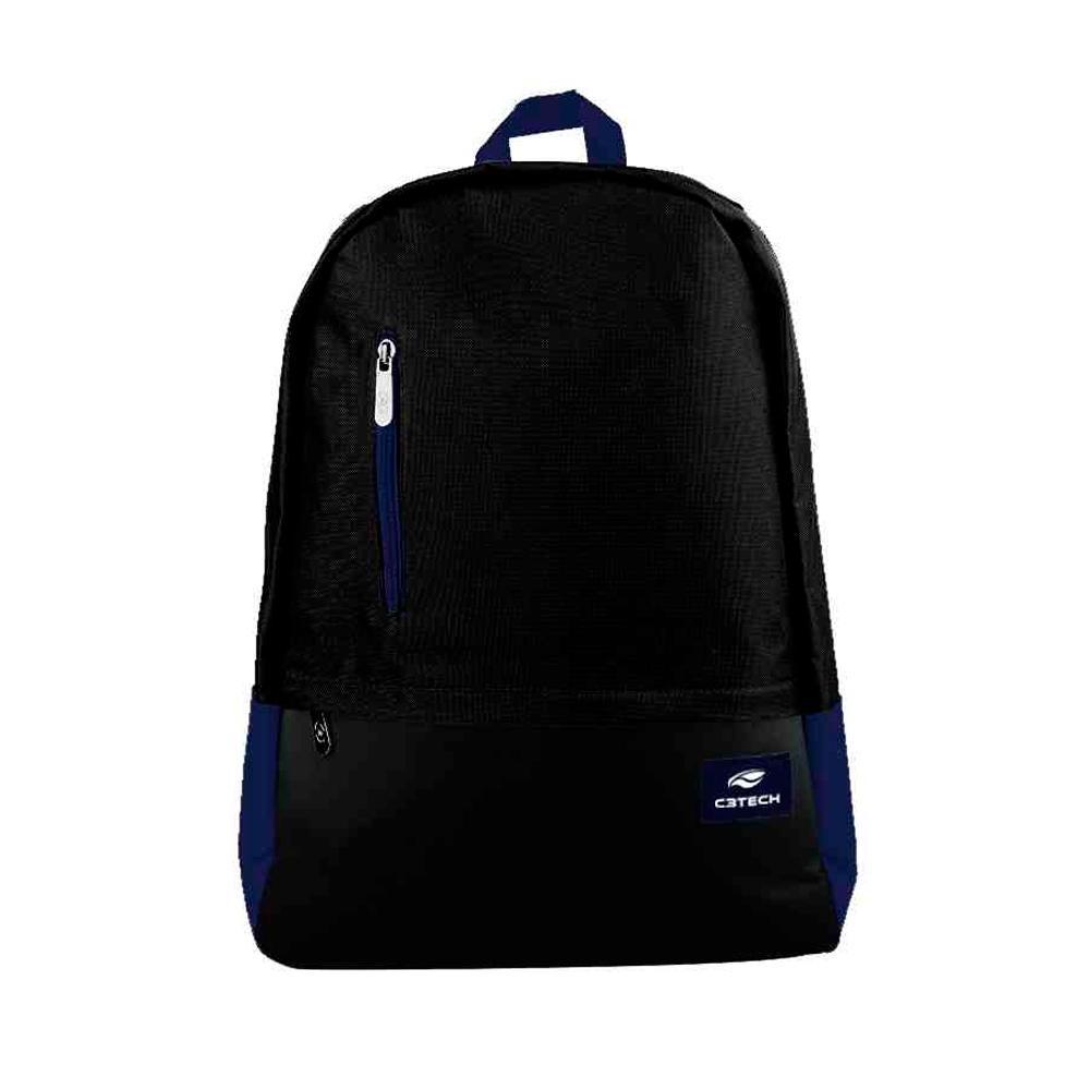 Mochila C3Tech Vancouver, para Notebook até 15.6´, Azul/Preta - MC-10BL
