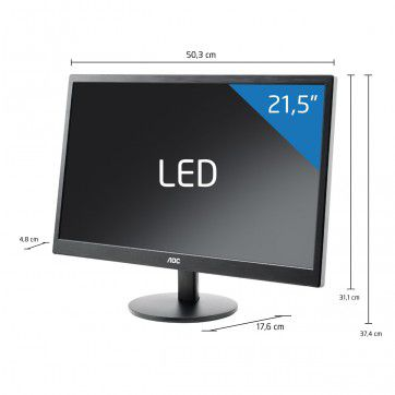 "Monitor AOC LED 21.5"" Widescreen - E2270SWN"