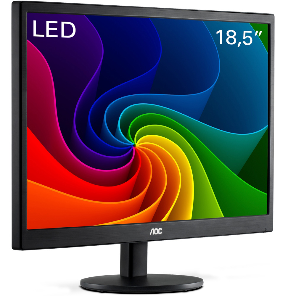 "Monitor LED AOC 18.5"" HD Widescreen Ultra High Preto - E970SWNL"