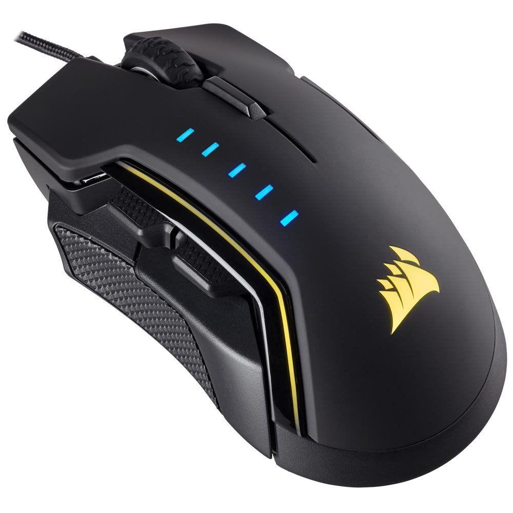 Mouse Gamer Corsair GLAIVE RGB Preto - CH-9302011-NA