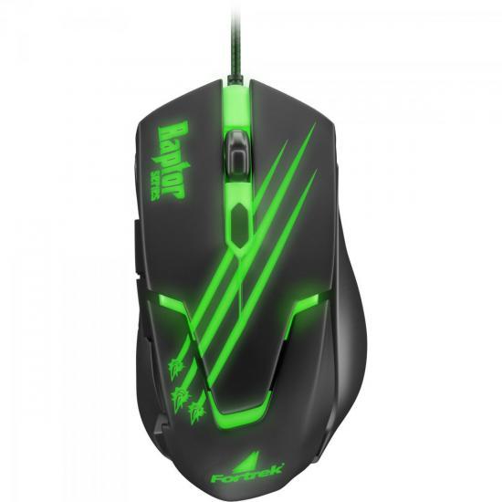 Mouse Gamer Fortrek Raptor Series USB 6 Botões 2400DPI OM801 - 60839