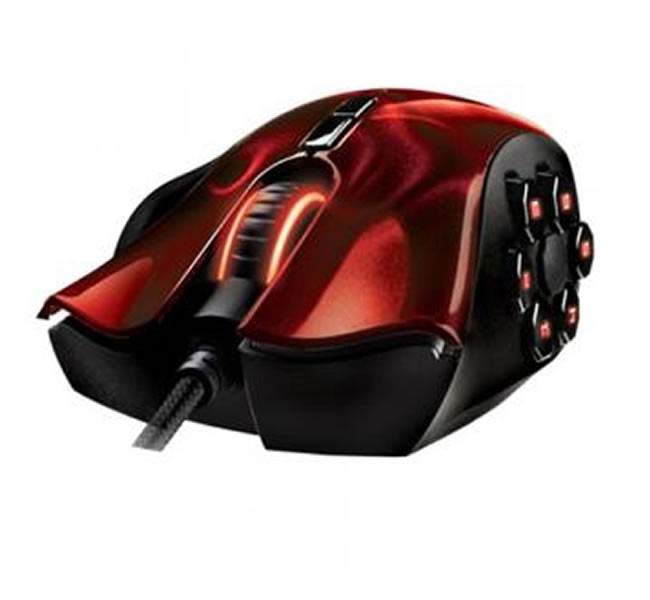 Mouse Gamer Razer Naga HEX RED Laser 3.5, 5600 Dpi - RZ01-00750200-R3U1