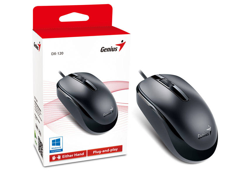 Mouse Genius USB NetScroll DX-120, 1200DPI, Preto - 31010105100