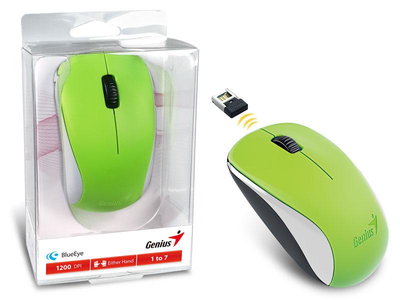 Mouse Genius Wireless NX-7000 BLUEEYE, 2.4GHz, 1200 DPI, Verde - 31030109121
