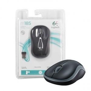 Mouse Logitech Wireless s/ Fio M185 Cinza