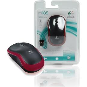 Mouse Logitech Wireless s/ Fio M185 Vermelho