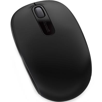 Mouse Óptico Microsoft 1850 S/ Fio, Preto - U7Z-00008
