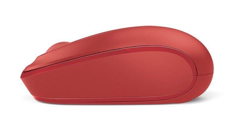 Mouse Óptico Microsoft 1850 S/ Fio, Vermelho - U7Z-00038